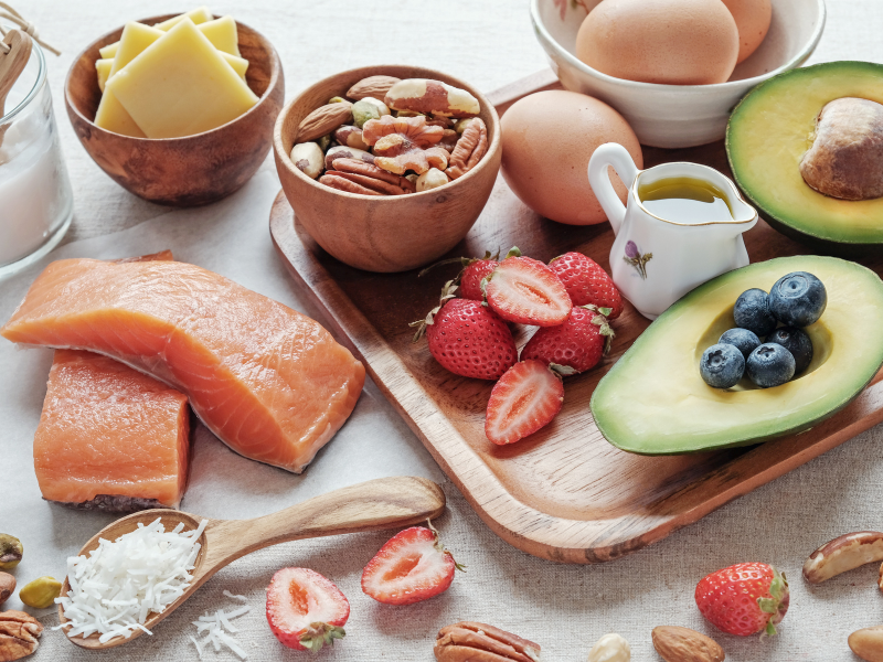 anti-inflammatory diet include foods like nuts, salmon and avocado